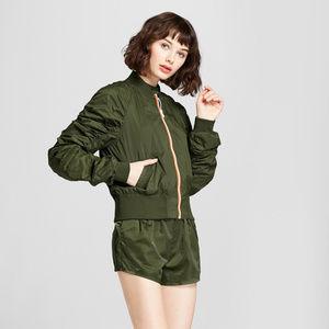 Hunter for Target Ruched Sleeve Bomber Jacket XL